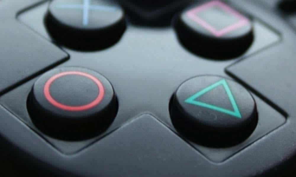 PlayStation 4-Controller im Zoom.