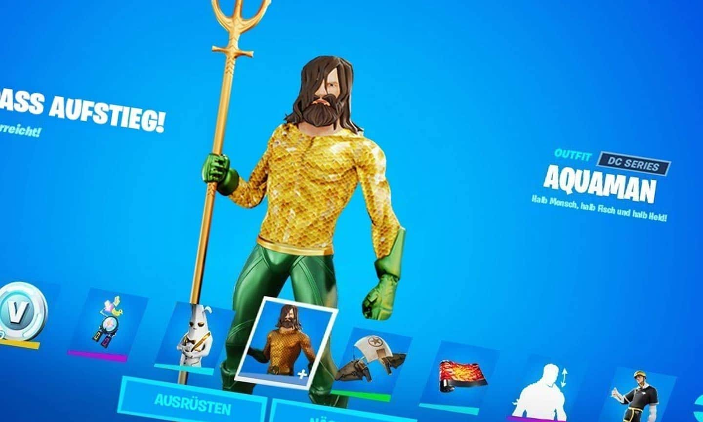 Möglicher Aquaman-Skin in Fortnite