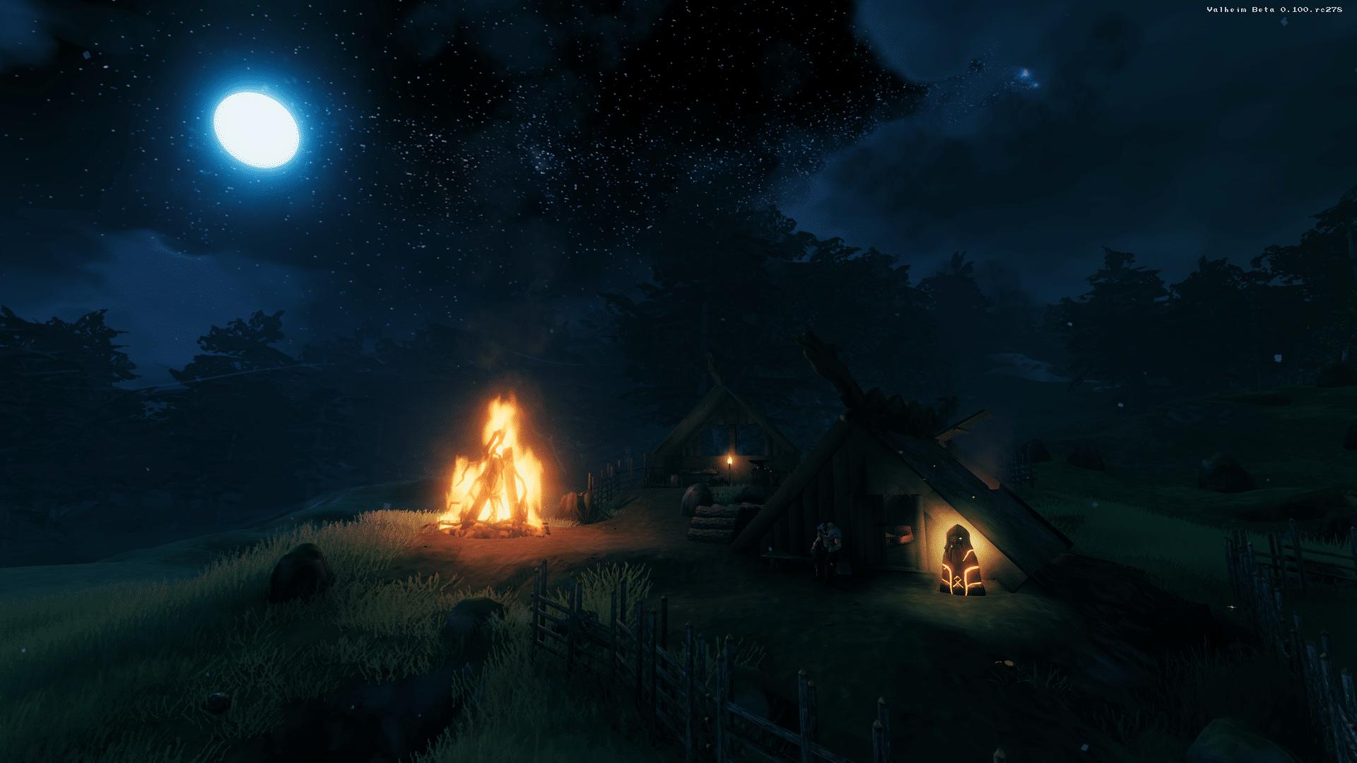 Valheim Nacht Screenshot © Iron Gate AB