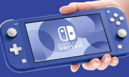 Nintendo Switch Lite in Blau. - (C) Nintendo