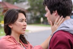 Jessica Henwick and Dylan O'Brien in LOVE AND MONSTERS from Paramount Pictures and Paramount Players. Photo Credit: Jasin Boland.