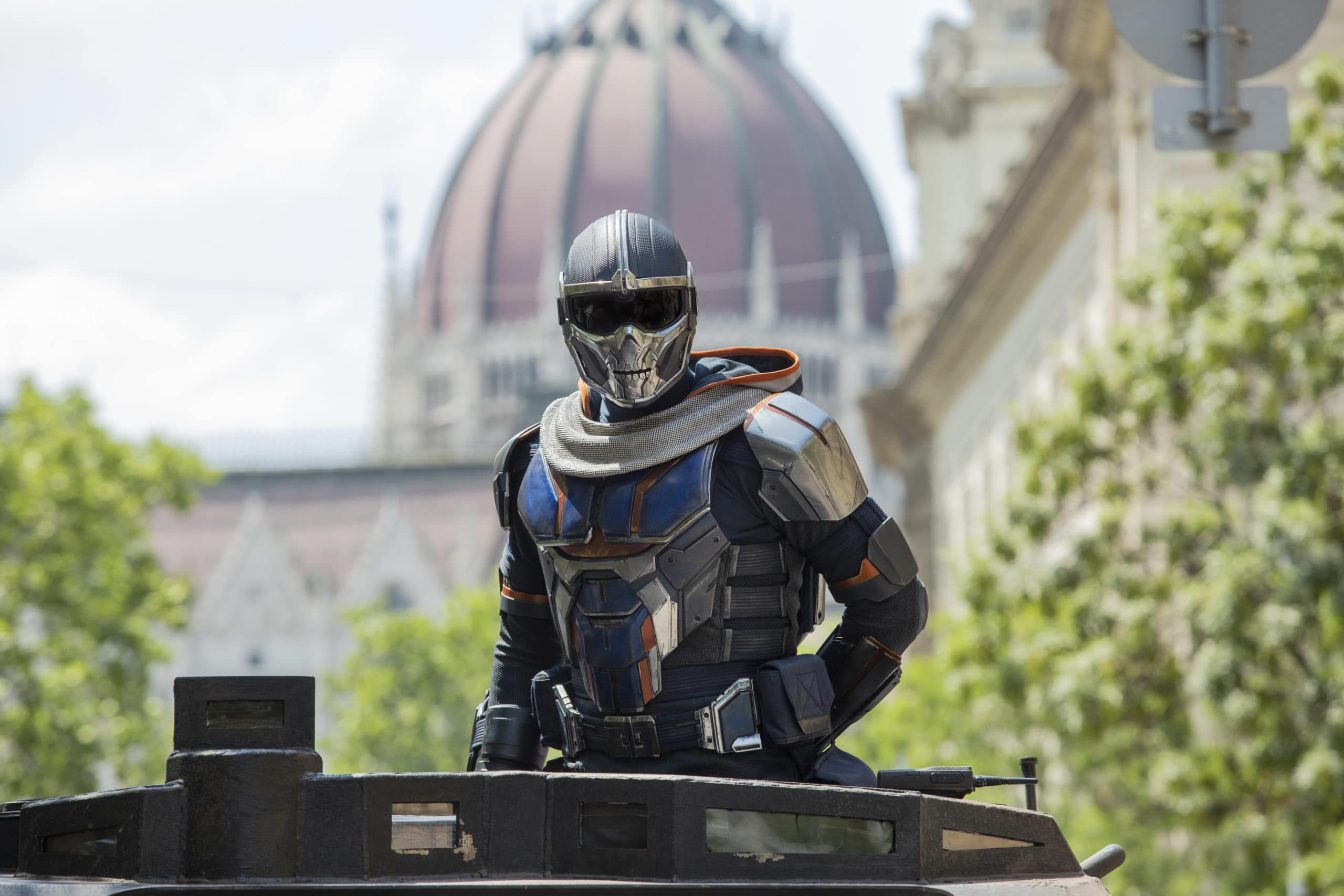 Taskmaster in Marvel Studios' BLACK WIDOW, in theaters and on Disney+ with Premier Access. Photo by Adrienn Szabo. ©Marvel Studios 2021. All Rights Reserved.