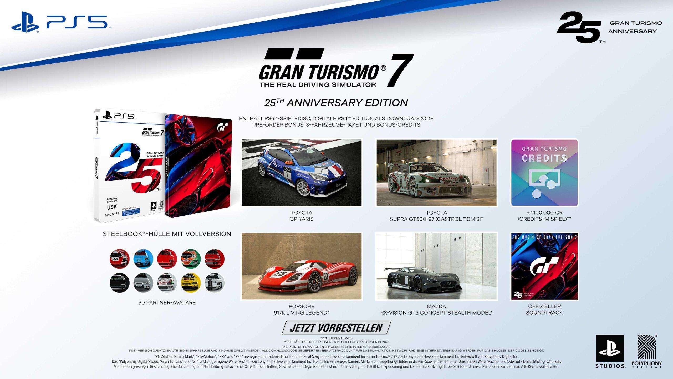 25th Anniversary Edition von Gran Turismo 7 für PS5 und PS4. - (C) PlayStation Studios